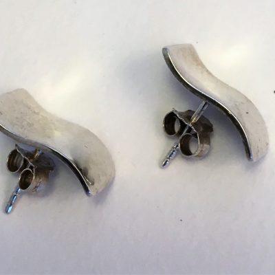 Danish Silver Wave Earrings