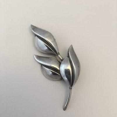 Danish SCF Three Leaf Brooch