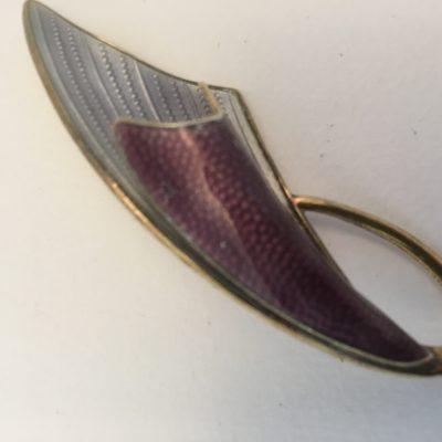 Norwegian Enamel Silver Gilt Brooch