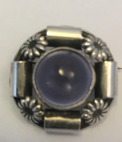 SCF Purple stone brooch EKH122