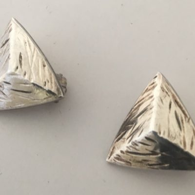 Danish Pyramidal Clip-on Earrings