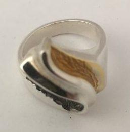 Randers Solvvarefabrik Silver/Silver-gilt Ring