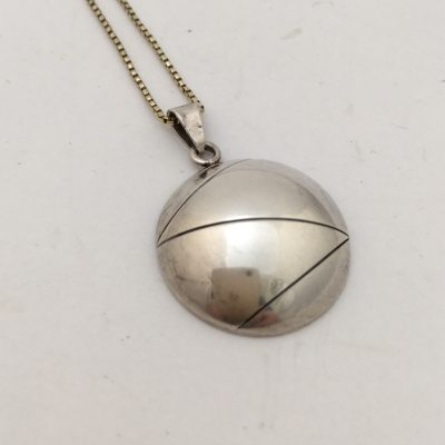 Danish A&K Circular Domed Pendant