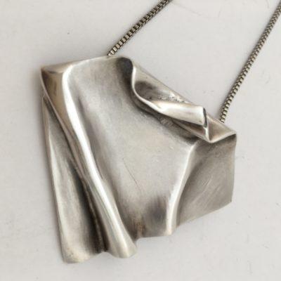 Large Danish Crumpled pendant/Brooch CMG