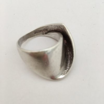 Danish Modernist Folded Ring