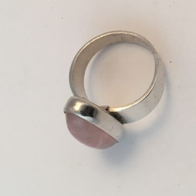Danish N.E.From Rose Quartz Ring