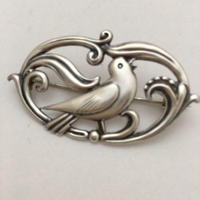 Danish Silver Bird Brooch