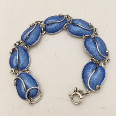 Danish Blue Enamel Bracelet