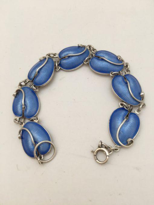 danish blue enamel bracelet EKH236