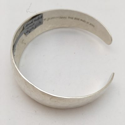 Swedish hand hammered bangle