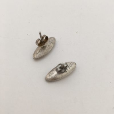Danish Torpedo Shaped Silver/Silver Gilt Earrings