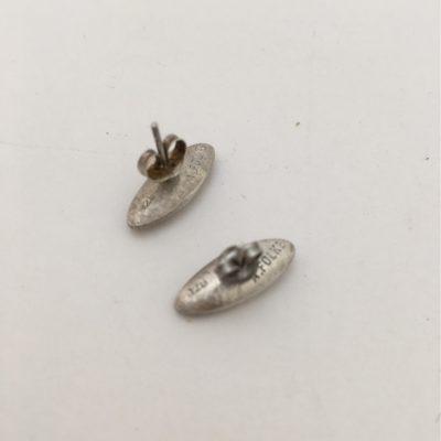 Danish Torpedo Shaped Silver/Silver Gilt Earrings