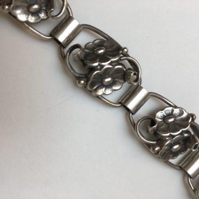 Danish Linked Double Flower Bracelet