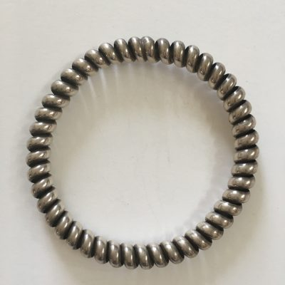 Danish silver coiled Bangle H.Fischer, Cop. 1893-1937