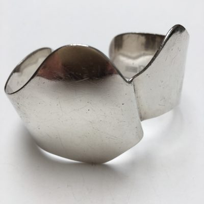 Fabulous Danish Silver Cuff Bangle