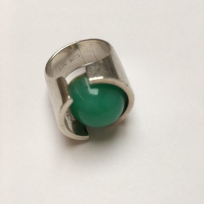 HDK Ring with Green Spherical Stone