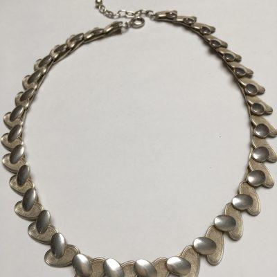 Swedish Silver Matt/Shiny Linked Necklace