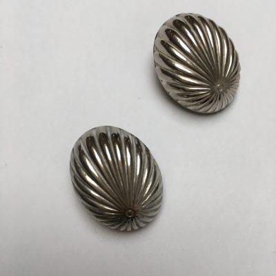 Silver Shell Clip on Earrings