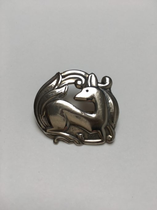 Danish Christian Veilskov Deer brooch EKH426