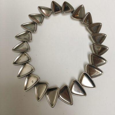 Danish S. Chr. Fogh Heavy Silver Necklace