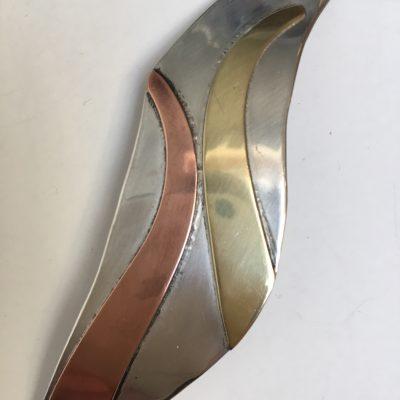 Large Norwegian silver/copper/Brass Brooch
