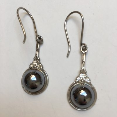 Danish Haematite Drop Earrings