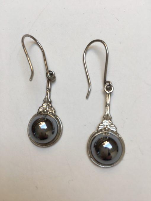 Haematite earrings EKH432