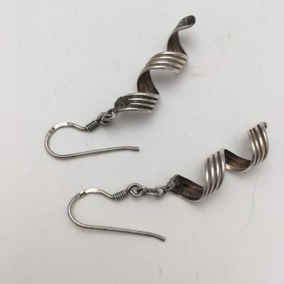 Danish Spiral Drop Earrings