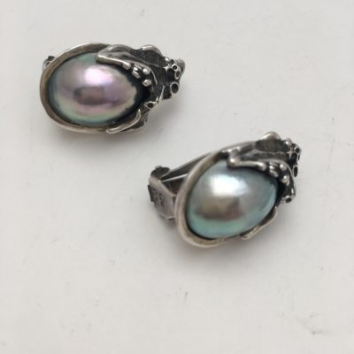 Hand made Organic Earrings Set with Shell