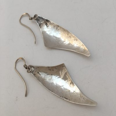 Danish Hand Hammered Drop Earrings