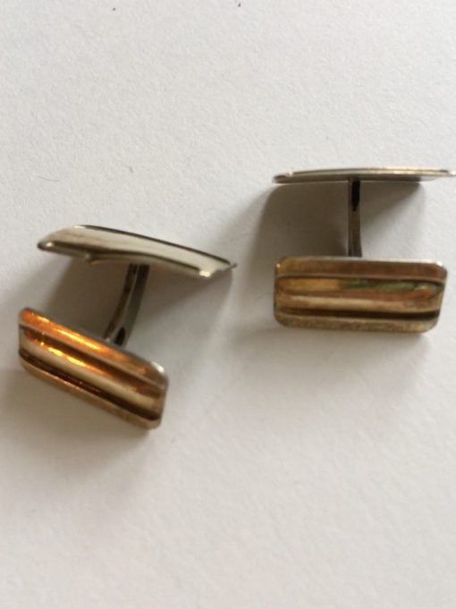 Danish s/gilt cufflinks EKH263