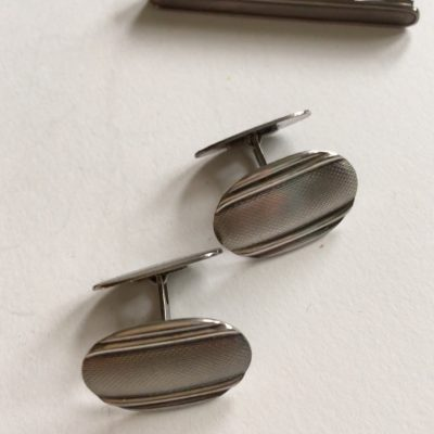 A Pair of Danish Cufflinks and Tiepin