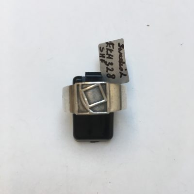 S.H.F. Silver Ring With Geometric Motif