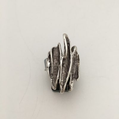Large Silver Brutalist Ring