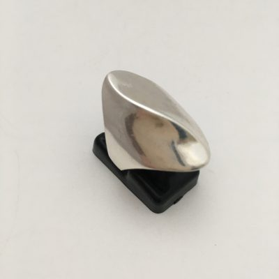Modernist Tactile Silver Ring