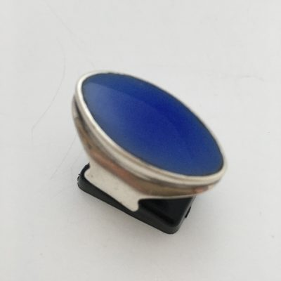 Oval Shaped Blue Chalcedony Ring