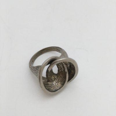 Spiral Brutalist Silver Ring