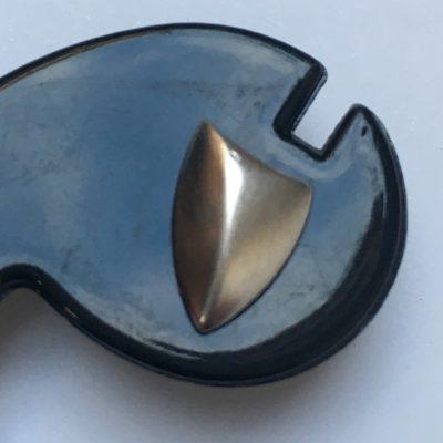 Danish Shield-Shaped Stud Earrings