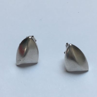 Danish Shield-Shaped Stud Earrings