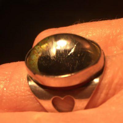 Finnish Elis Kauppi Cabochon Crystal Ring