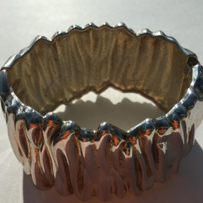 Rare Silver Bark Effect Bangle